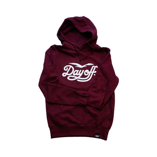 Day Off Classic Hoodie, Burgundy