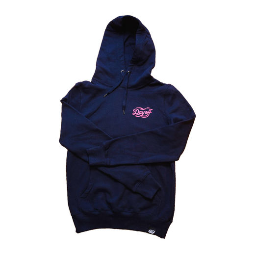 Day Off Classic Small Logo Hoodie Navy/Burgundy