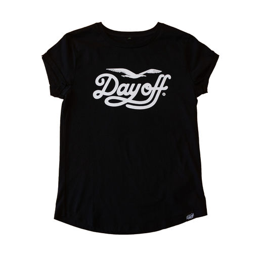 Day Off Classic Ladyfit t-shirt black/white