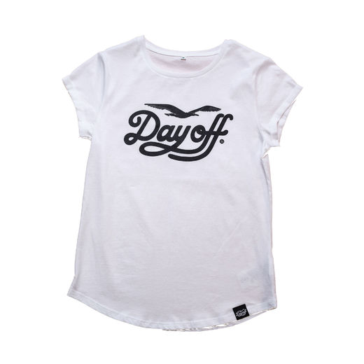 Day Off Classic Ladyfit t-shirt white/black