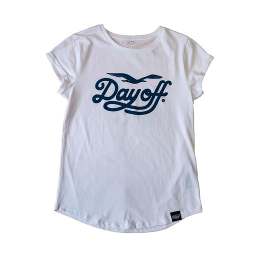 Day Off Classic Ladyfit t-shirt white/blue