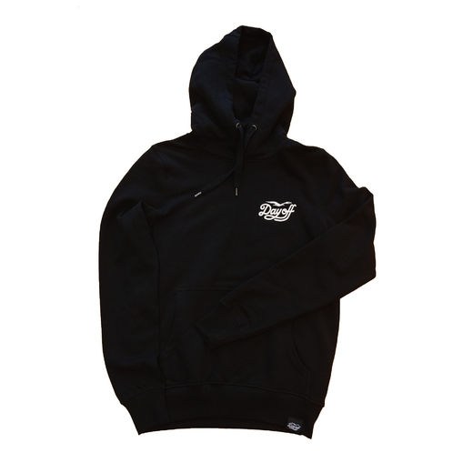 Day Off Classic Small Logo Hoodie, Black/White