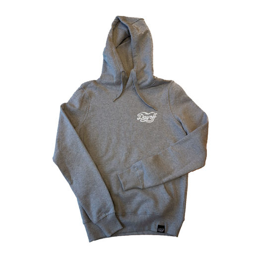 Day Off Classic Small Logo Hoodie Grey/White