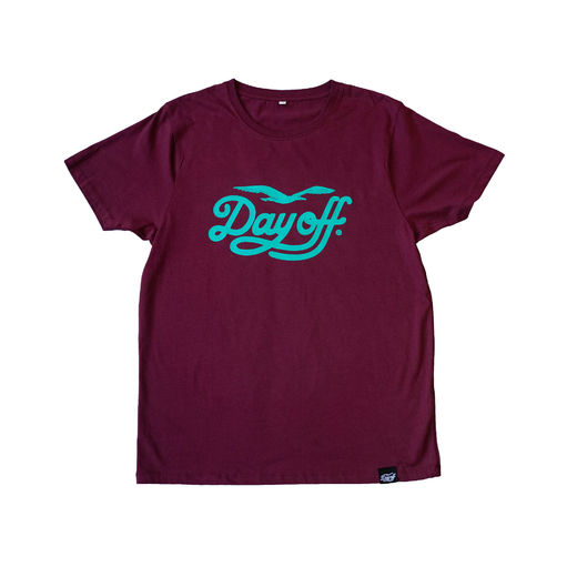 Day Off Classic T-Shirt Burgundy / Turquoise