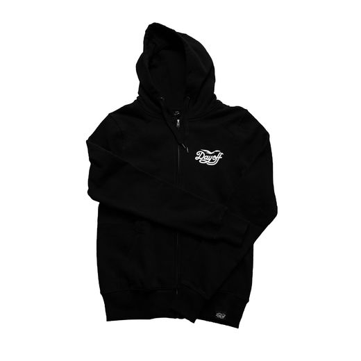 Day Off Classic small logo zip hoodie black/white, Unisex