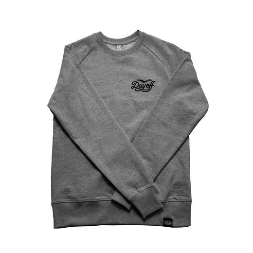Day Off College Shirt classic small logo, grey