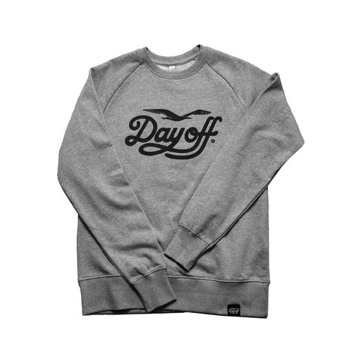 Day Off College Shirt, Classic Logo, Grey, Continental