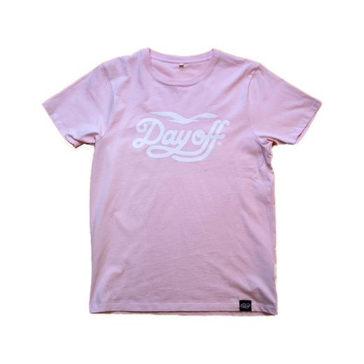 Day Off Classic T-Shirt, Pink/White